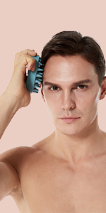 Scalp massager shampoo brush cleansing scrubber