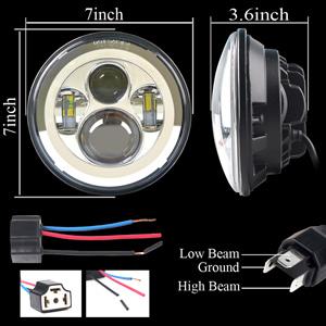7inch led headlight