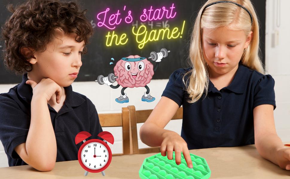 push pop bubble sensory fidget toy relax helper green