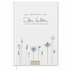 notizbuch weiß hardcover momentesammler momente erinnerungen festhalten tagebuch design weiß liniert