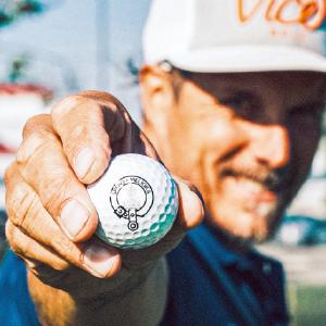 Vice Golf ball closeup