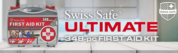 Swiss Safe Ultimate 348-pc First Aid Kit