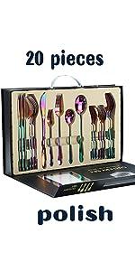 Rainbow Mirror Silverware Set