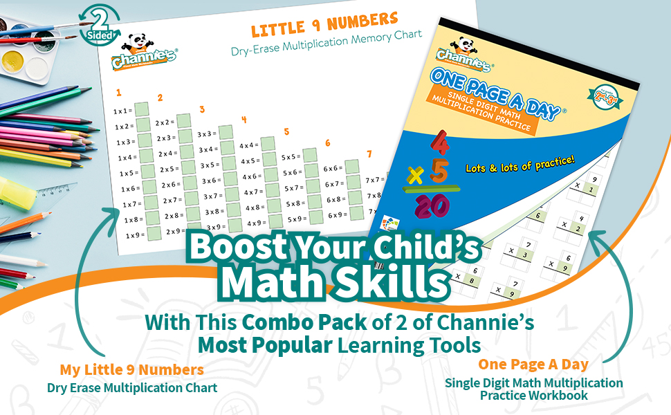 boost your Childs math skills my littler 9 numbers dry erase board and one page a day worksheets