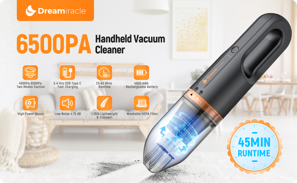 6500PA Handheld Vacuum