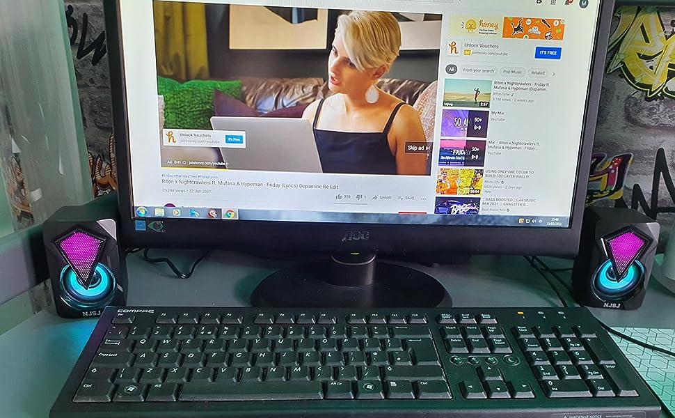 Mini Speakers for PC Desktop