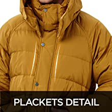 Plackets detail