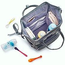 Large diaper bag backpack