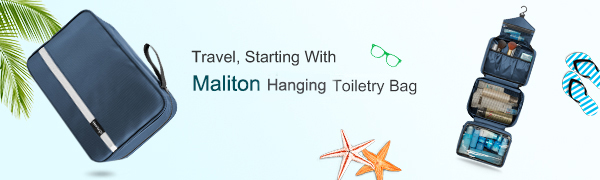 Maliton hanging toiletry bag