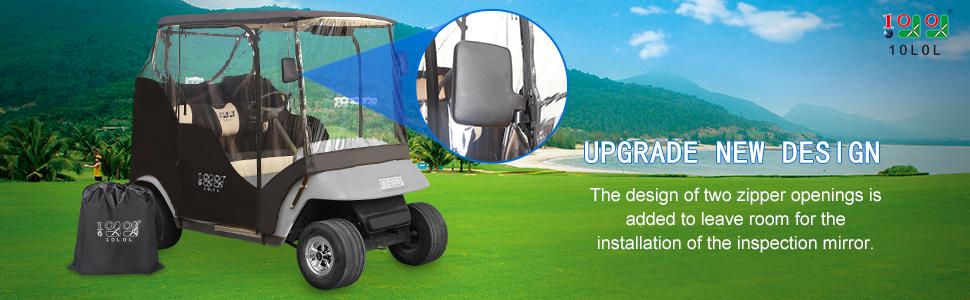 golf cart covers 2 passenger