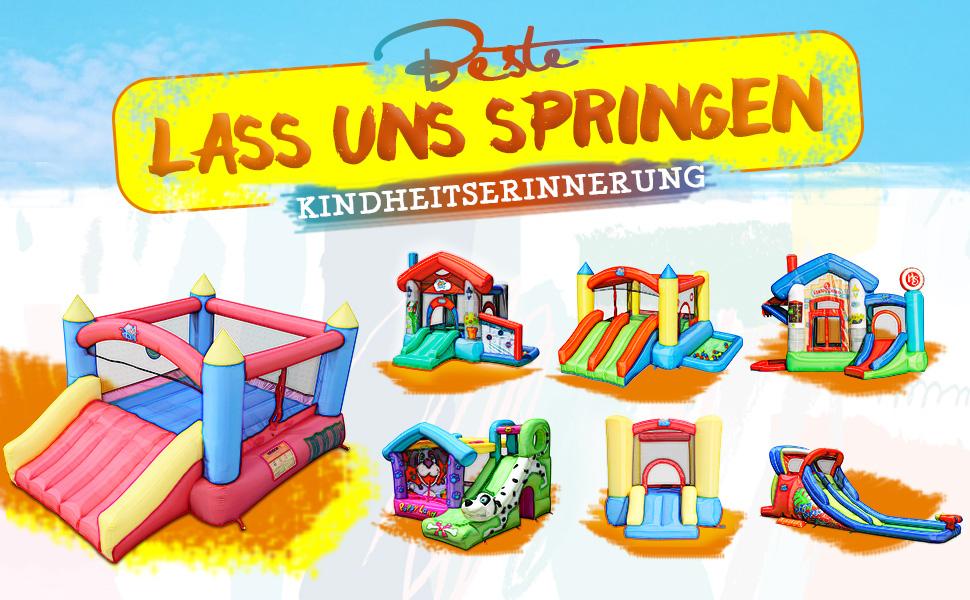 ACTION AIR C-9745 Aktualisierte Version H/üpfburg, Aufblasbarer Spielhaus mit Gebl/äse, Rutsche Kinder F/ür /Überdacht//Draussen