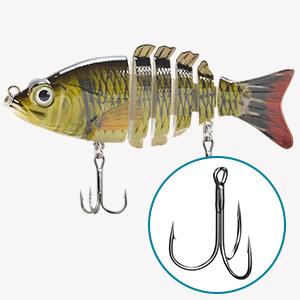 Details about  /5cm//3.6g Fishing Lure Fishing Bait Fishing Hook SwimBait Crankbait Striped K6N3