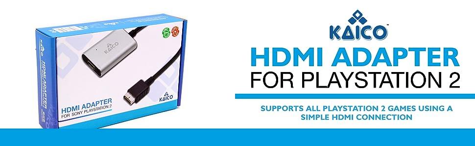 Cable adaptador HDMI para Sony PlayStation 2 (PS2) Incluye un interruptor RGB/componente para soportar todas las salidas. Solución Plug & Play para conectar una PS2 a un moderno televisor Kaico: Amazon.es: Videojuegos