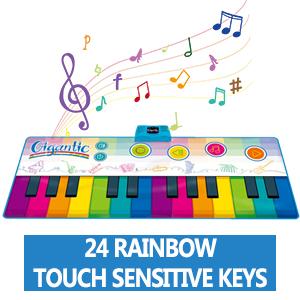 24 keys kids piano mat toys