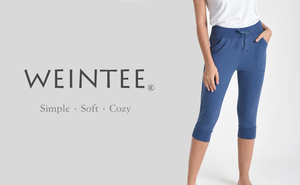 Weintee Womens Cotton Bermuda Shorts with Pockets