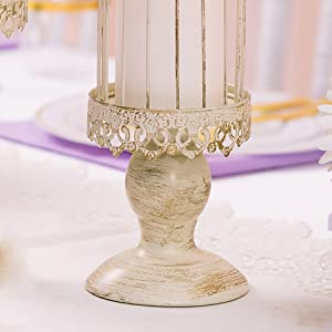 disstressed candle holders