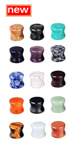 10 Pairs or 15 Pairs Stone Saddle Plugs for Ear