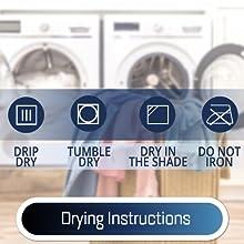 drying instruction