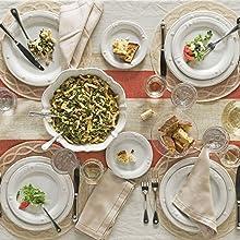 juliska berry and thread whitewash stonrware dinnerware ceramic plates
