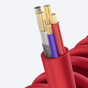 tizi Spiralkabel Lightning Kabel Mfi Apple ladekabel aufladen iphone Kabel