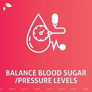 Controls blood pressure, sugar levels, and cholesterol
