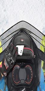 Snowmobile dashboard storage bag