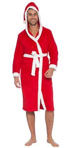 mens santa claus christmas robe