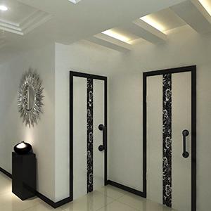 zilveren deurgrepen