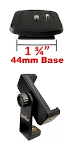 44mm quick release plate phone tripod mount