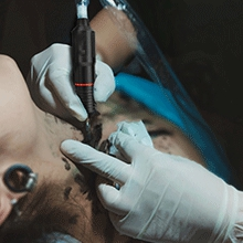 We offer replacements for the defective items of the tattoo kit.