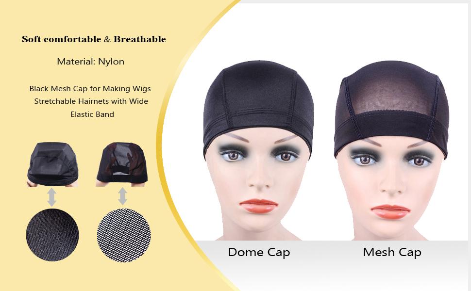 Amazon Com 2 Pcs Lot Black Mesh Cap For Making Wigs Stretchable