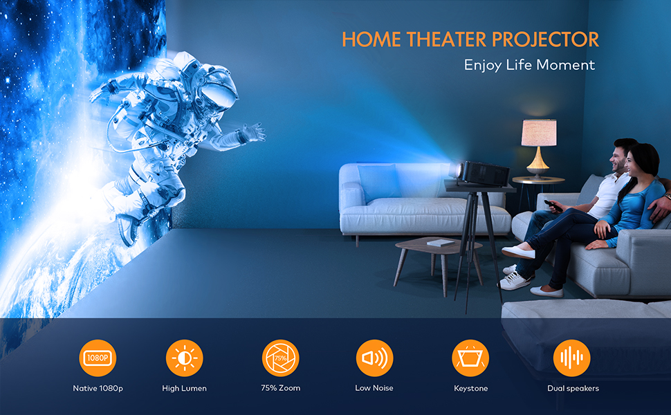 NATIVE 1080P HOME THEATER PROJECTOR