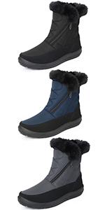 Zapatos planos de nieve gruesos, antideslizantes, resistentes al agua, tracción de estabilidad