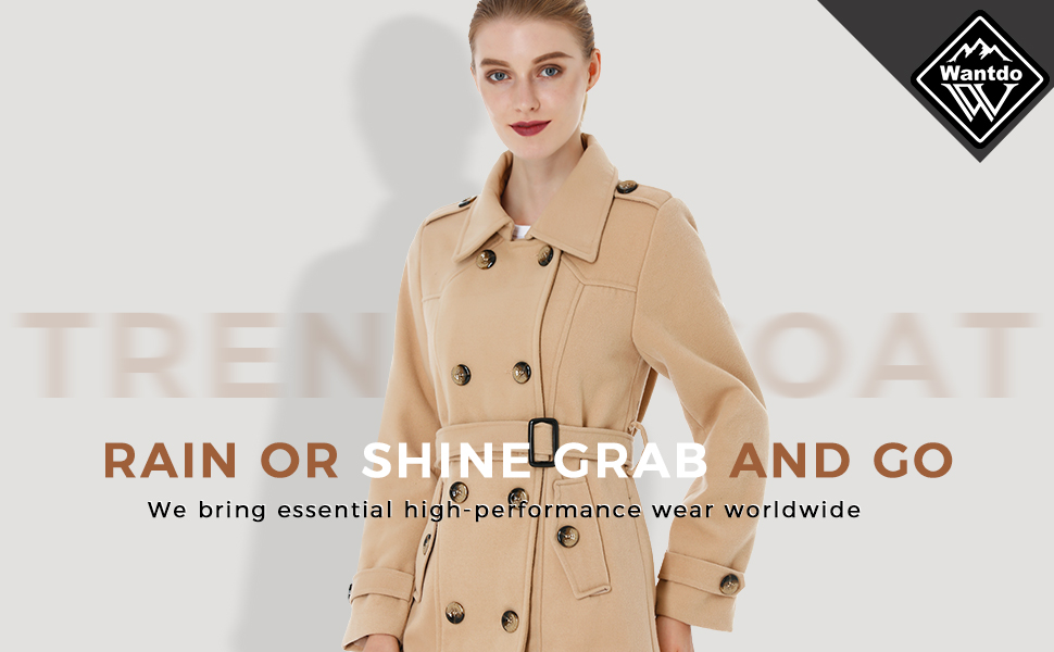 Women's Double Breasted Pea Coat