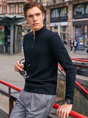 men's quarter sweater for men
