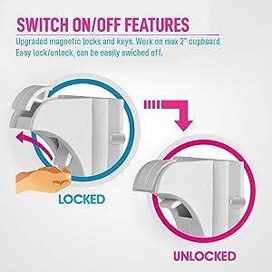turn cabinet locks off, baby safety locks, locks and safety for kids, keep kids safe, locks for safe