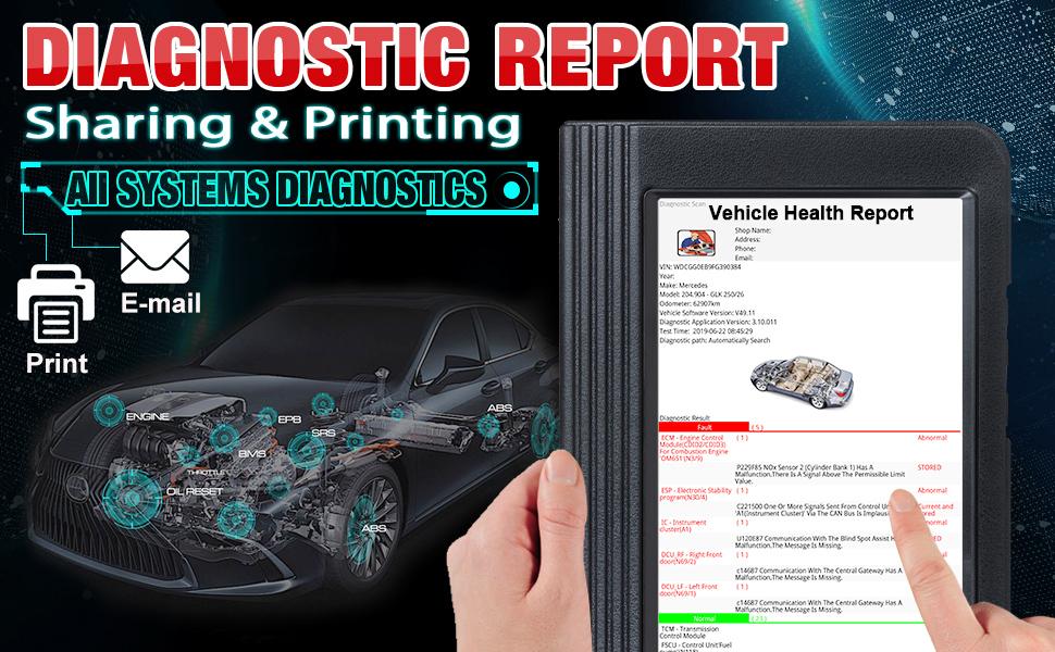 Launch x431 pro diagnostic report