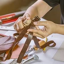 Multi-size Solid Wood Leathercraft Edge Slicker Burnisher for Leather Tool