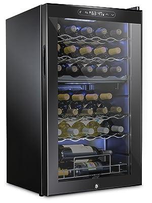 Schmecke 33 bottle dual zone wine cooler with lock