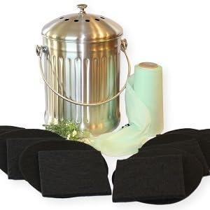 compost pail bundle gardenatomy goldsol brands goldsol living