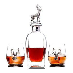 dishwasher safe, lead free glass whisky decanter for alcohol, whiskey decanter gift set and glasses