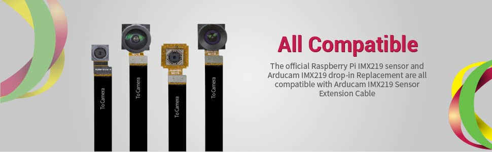 Arducam IMX219 Drop-in Replacement Series for Raspberry Pi Camera Module V2 all in one