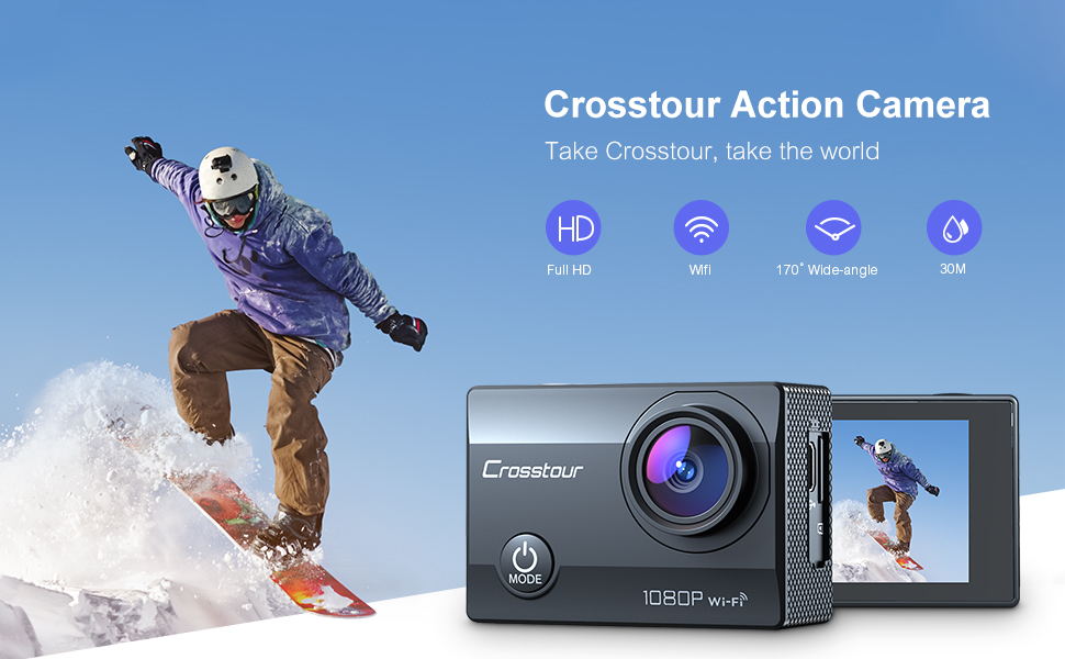 crosstour action camera for Christmas gift