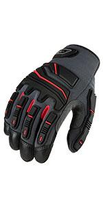 Vgo Cowhide Leather Heavy Duty Mechanic Work Gloves