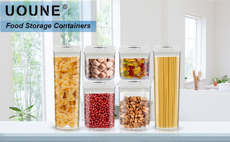 stackable cereal containers for storage airtight food containers