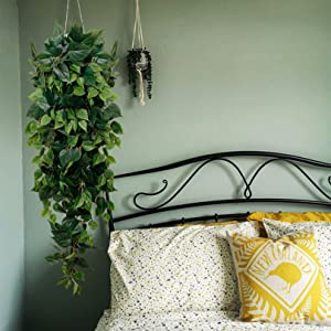fake hanging plants for green house decoration