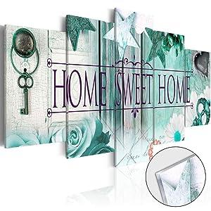 Home Sweet Home Love Wall Art Canvas Blue