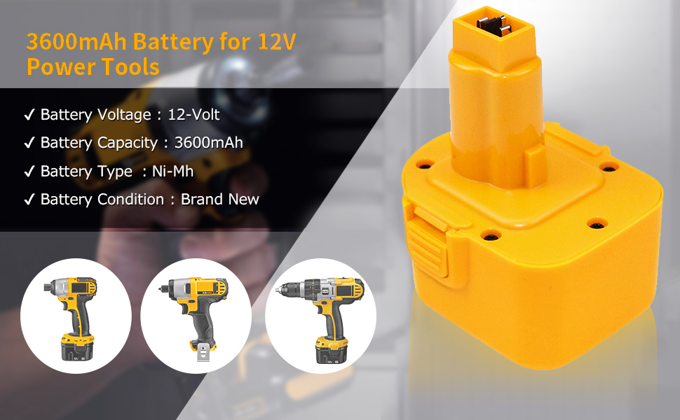 REPLACEMENT FOR DW9071 12 VOLT BATTERY