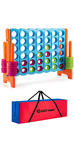 COSTWAY Jumbo 4-to-Score Giant Game Set with Storage Carrying Bag