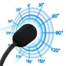 Omnidirectional usb microphone